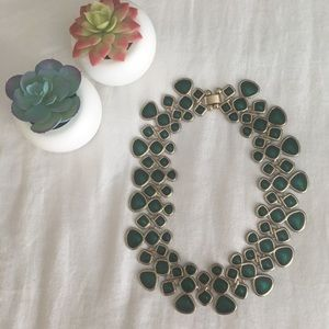 Forever 21 Green statement collar necklace